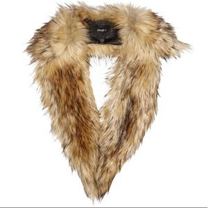 Unreal Fur Natural Stole Scarf